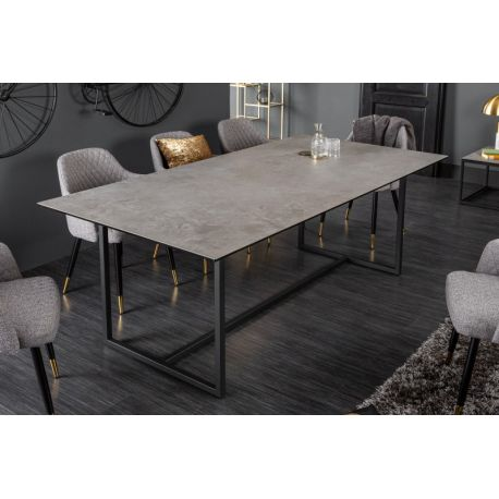 Jedálenský stôl Spark 200 cm keramika sklo betónový vzhľad