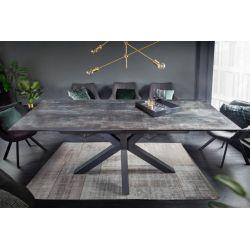 Jedálenský stôl Eternity II 180-225 cm keramika lávová čierna