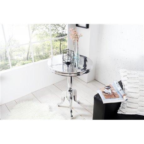 Konferenčný stolík Jardin strieborný okrúhly 75 cm