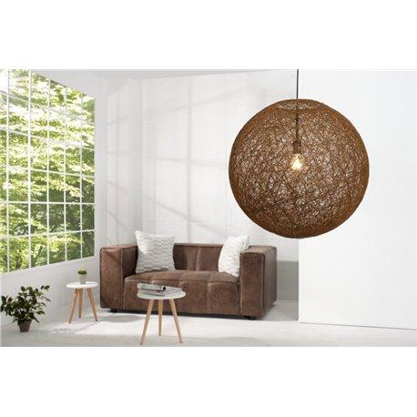 Závesná lampa Cocoon nature-hnedá 60cm