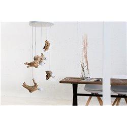 Závesná lampa Calm V naplavené drevo