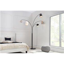 Stojanová lampa Niveau čierna