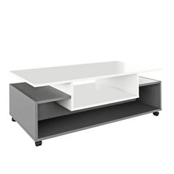 Konferenčný stolík Dilan 110 cm na kolieskach biely grafit