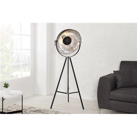 Stojanová lampa Studio 160 cm čierna strieborná