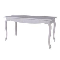 Drevený konferenčný stolík Enid 116 cm sosna biely