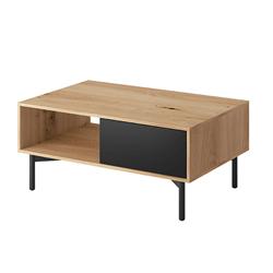 Drevený konferenčný stolík Jadis 102 cm dub artisan hnedý čierny