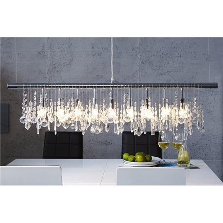 Luxusné závesné svetlo Noble 120 cm čierne