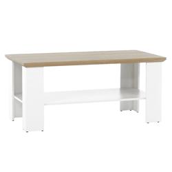 Konferenčný stolík Kira 120 cm biely hnedý dub grand