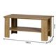 Konferenčný stolík Kira 120 cm dub grand hnedý