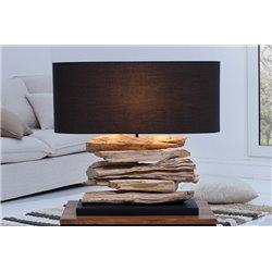 Nočná lampa Riverine II čierna driftwood