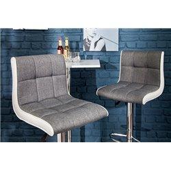 Barová stolička Modena 90-115cm šedá-biela (2ks)