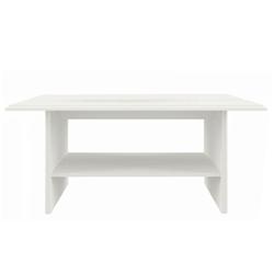 Drevený konferenčný stolík Joel 110 cm krémový biely