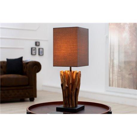 Stolová lampa driftwood Euphoria šedá hnedá