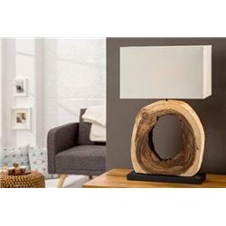 Nočná lampa Cycle z naplaveného dreva krémová