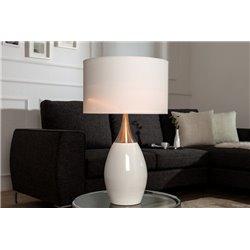 Nočná lampa Carla 60cm biela