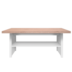 Drevený konferenčný stolík Marvin 115 cm dub sonoma biely
