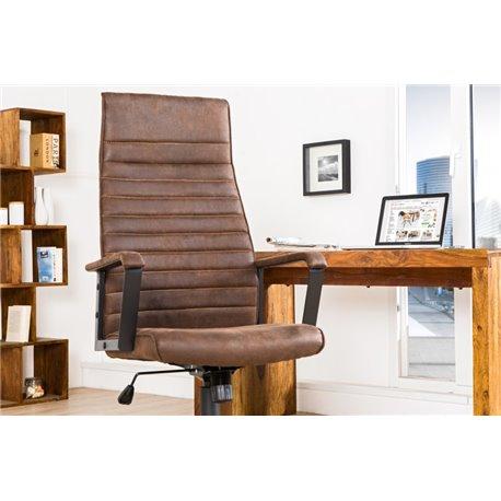 Kancelárska stolička Lazio High hnedá