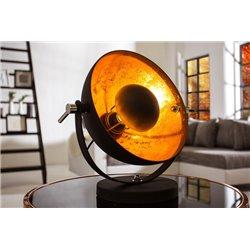 Nočná lampa Salon 40 cm čierna-zlatá