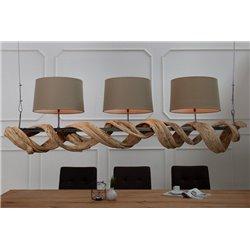 Závesné osvetlenie Fine 160 cm recyklované drevo