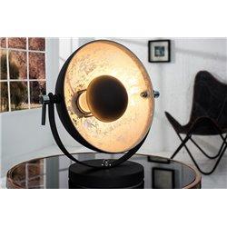 Nočná lampa Salon 40 cm čierna-strieborná