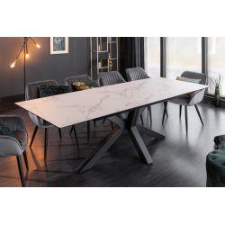 Rozkladací jedálenský stôl Eternity 180-225 cm keramika sklo mramorový vzhľad
