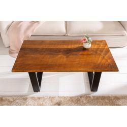 Konferenčný stolík Gobi 110 cm masív mango kov hnedý čierny