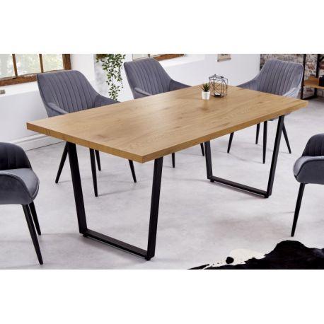Jedálenský stôl Studio 180 cm dubový vzhľad hnedý čierny