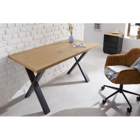 Písací stôl Studio 140 cm dubový vzhľad hnedý čierny