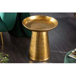 Príručný stolík Mansour 45 cm kov-hliník zlatý