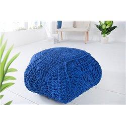 Taburetka Cozy IV 70 cm bavlna modrá