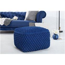 Taburetka Cozy I 55 cm bavlna modrá