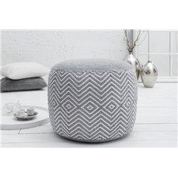 Taburetka Oriental 50 cm bavlna šedá biela