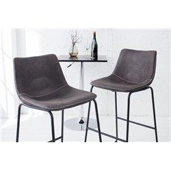 Barová stolička Clares šedá (2ks)