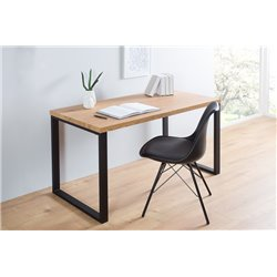 Písací stôl Dub 120 cm čierny
