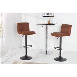 Sada barových stoličiek Portland vintage hnedá (2ks)