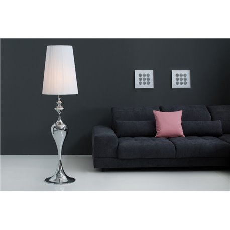 Stojanová lampa Lucie 160 cm biela