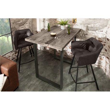 Barový stôl Iron Craft 120 cm sivý Mango