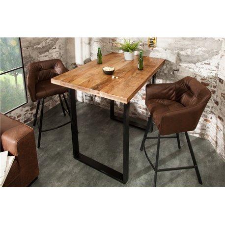 Barový stôl Iron Craft 120 cm prírodný Mango