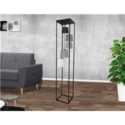 Stojanová lampa Niveau II čierna sivá