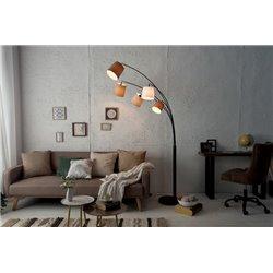 Stojanová lampa Niveau biela béžová hnedá