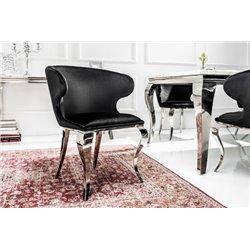 Stolička Gilt čierna zamat (2ks)