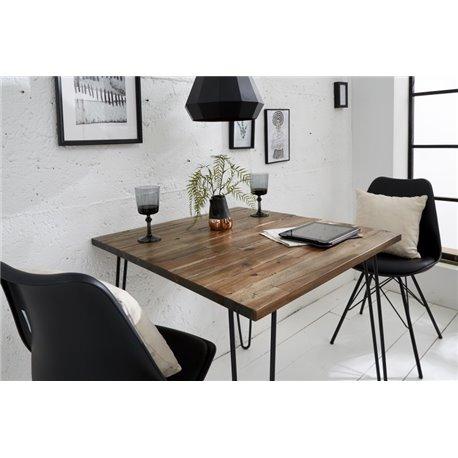 Jedálenský stôl Scorpion 80 cm hnedý acacia