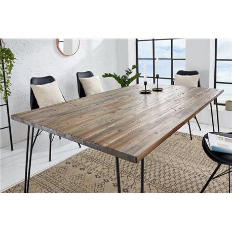 Jedálenský stôl Scorpion 160cm hnedá akácia