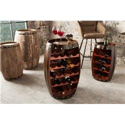 Stojan na víno Chateau 80 cm tmavohnedý