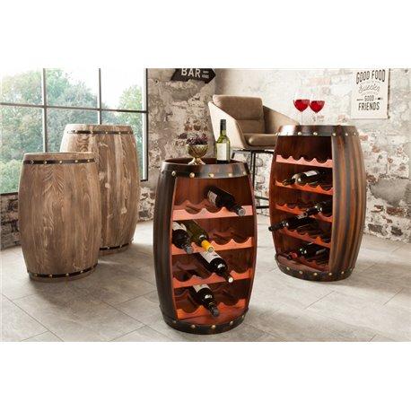 Stojan na víno Chateau 60 cm tmavohnedý