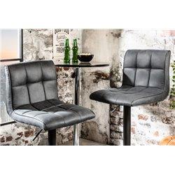 Barová stolička Modena vintage šedá (2ks)