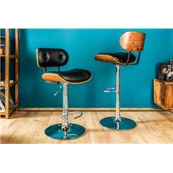 Barová stolička Classico 115 cm čierny orech