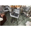 Barová stolička Studio strieborná šedá