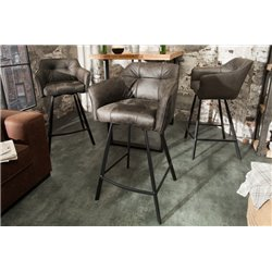 Barová stolička Studio tmavošedá