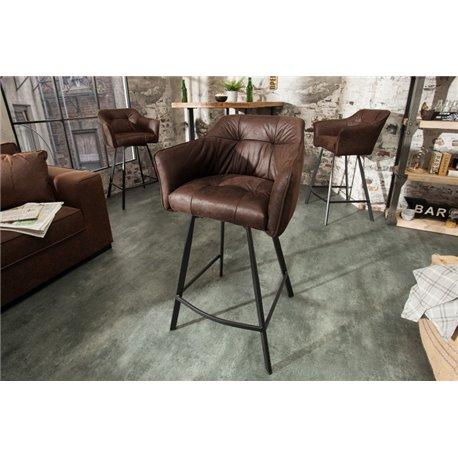 Barová stolička hnedá Loft
